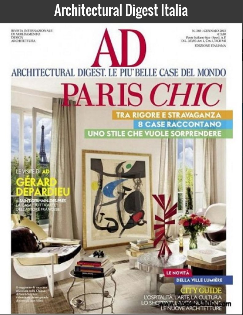 Italie architecturaldigest july 2016 cover