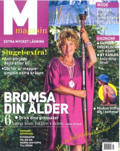 Zweden mmagasin 2016 july cover