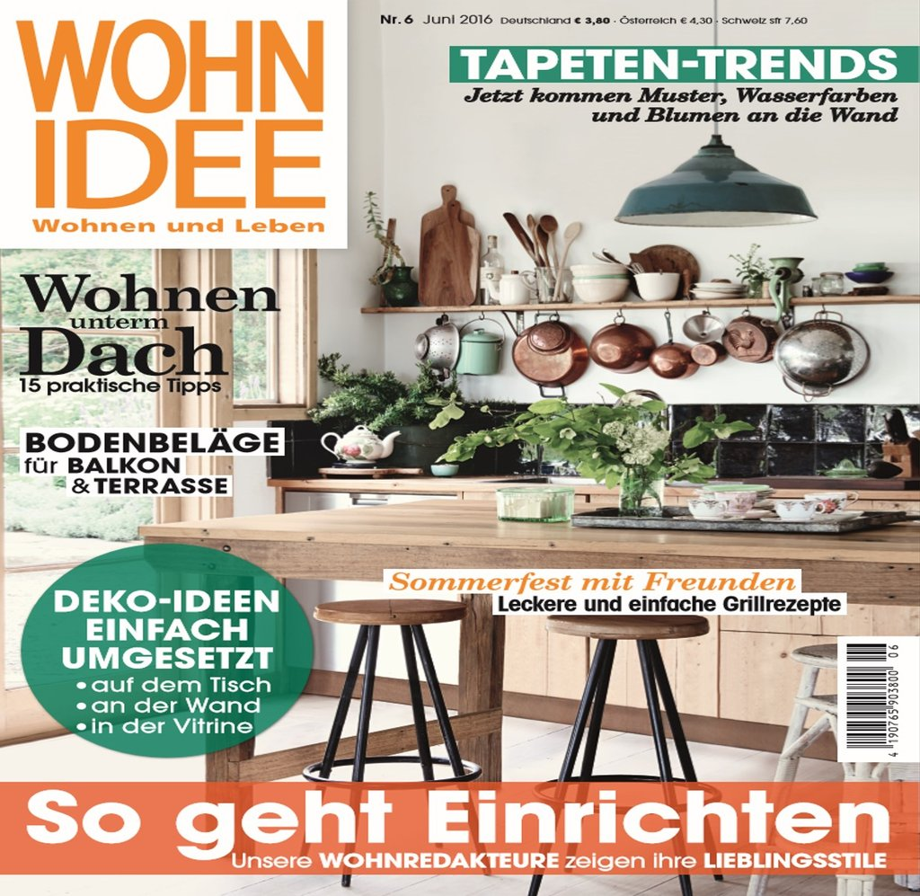 De wohnidee july 2016 cover